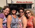 The ladies before boarding the Catalina Express.