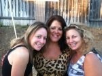 Carmen, Kathy and me in Kathy's backyard before her 50th birthday party.