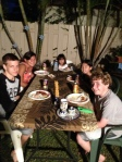 Havdalah and dinner in the backyard