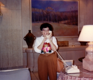 mom on phone